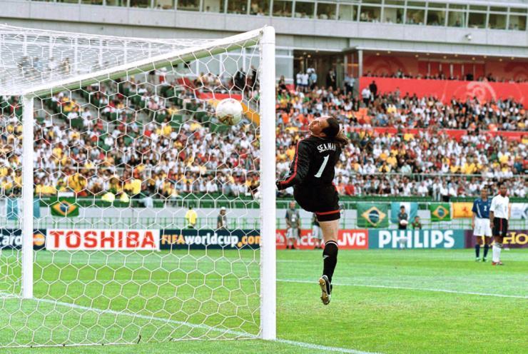 Seaman encaisse un but de Ronaldinho face au Brésil lors de la Coupe du Monde 2002