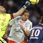 Football Soccer - Paris St Germain v Montpellier - French Ligue 1 - Parc des Princes stadium, 05/03/2016.  Paris St Germain's Zlatan Ibrahimovic in action against Montpellier's goalkeeper Laurent Pionnier.    REUTERS/Christian Hartmann  - RTS9GCH