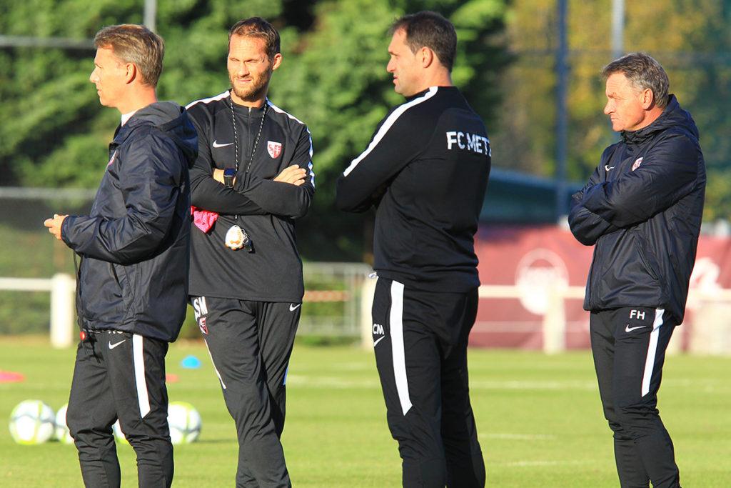 Marichez au sein du staff technique du FC Metz