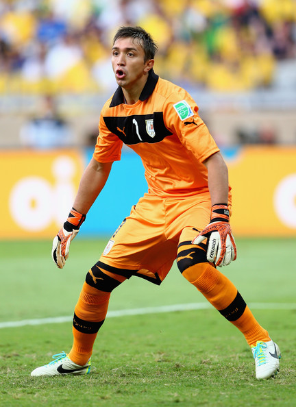 Fernando Muslera, gardien sera titulaire dans les buts uruguayens - source : Zimbio.com