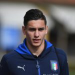 FLORENCE, ITALY - MARCH 20:  Alex Meret of Italy looks on prior to the training session at the club's training ground at Coverciano on March 20, 2017 in Florence, Italy.  (Photo by Claudio Villa/Getty Images)