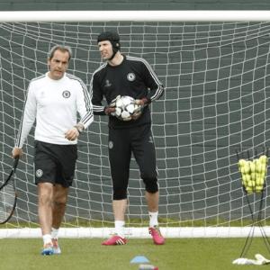 Petr Cech, avec Christophe Lollichon - source : Stadito