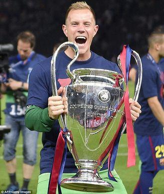 Ter Stegen et sa Ligue des Champions (Crédit : Dailymail.uk)
