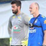 Alisson et Taffarel à l'entrainement - Photo : TRT Spor