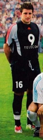 Le portier marseillais tout sourire lors du match oppsant l'OM à France 98 (source : <em>TFC Matchs</em>)