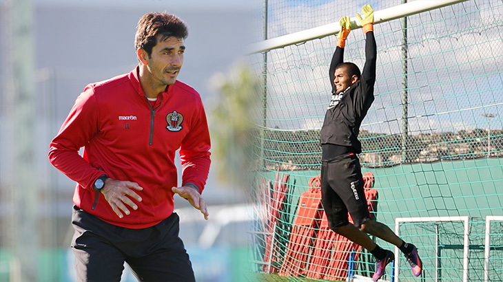 Lionel Letizi et Walter Benítez à l'entrainement - source : OGC Nice