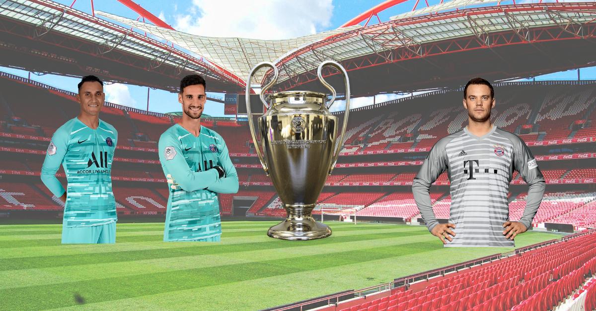 Main Opposée gardien de but Ligue des Champions Finale PSG Bayern Navas Rico Neuer