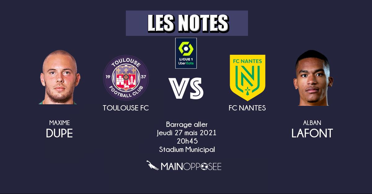 Barrage aller - Toulouse - Nantes